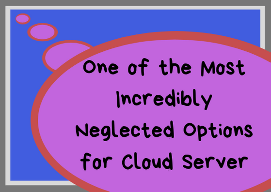 One of the Most Incredibly Neglected Options for Cloud Server