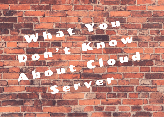 What You Don't Know About Cloud Server