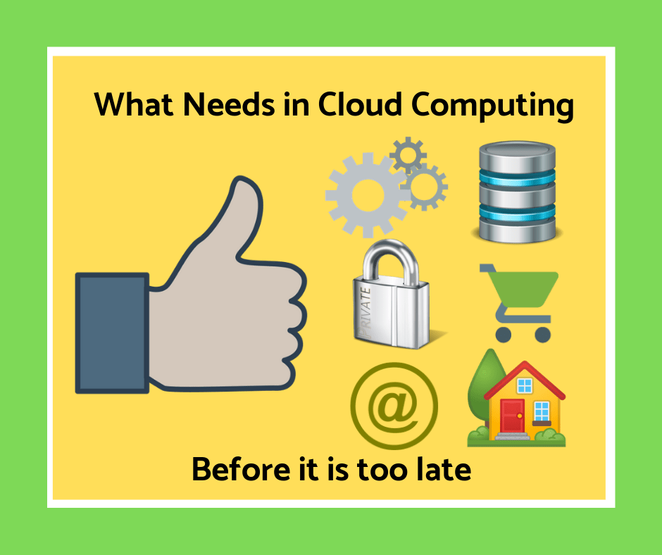 What Needs to be Done About Cloud Computing Before It Is Too Late
